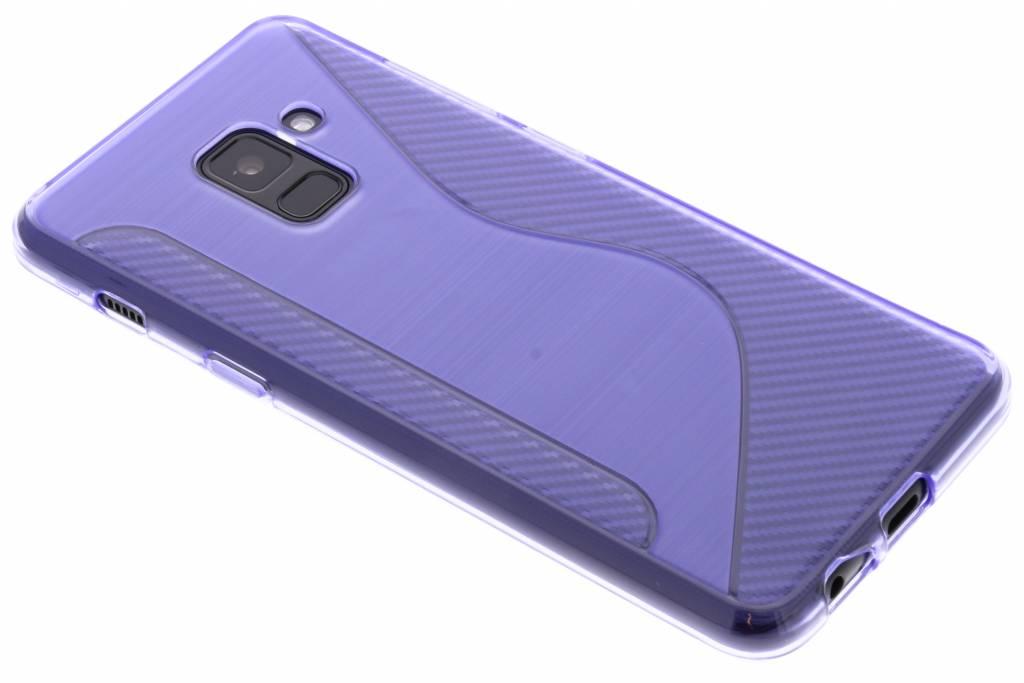 Paars S-line TPU hoesje voor de Samsung Galaxy A8 (2018)