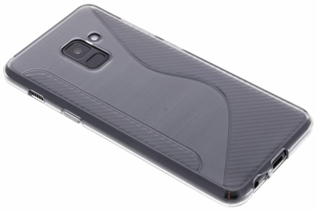 Grijs S-line TPU hoesje voor de Samsung Galaxy A8 (2018)