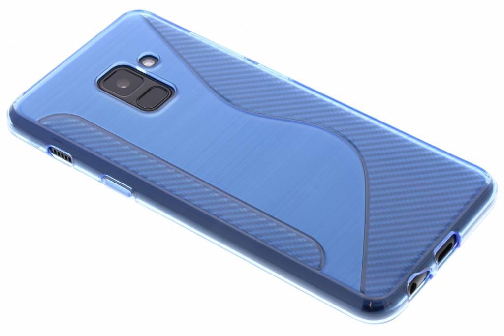 Blauw S-line TPU hoesje voor de Samsung Galaxy A8 (2018)