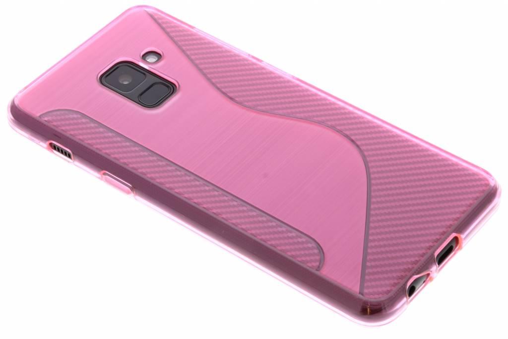 Roze S-line TPU hoesje voor de Samsung Galaxy A8 (2018)
