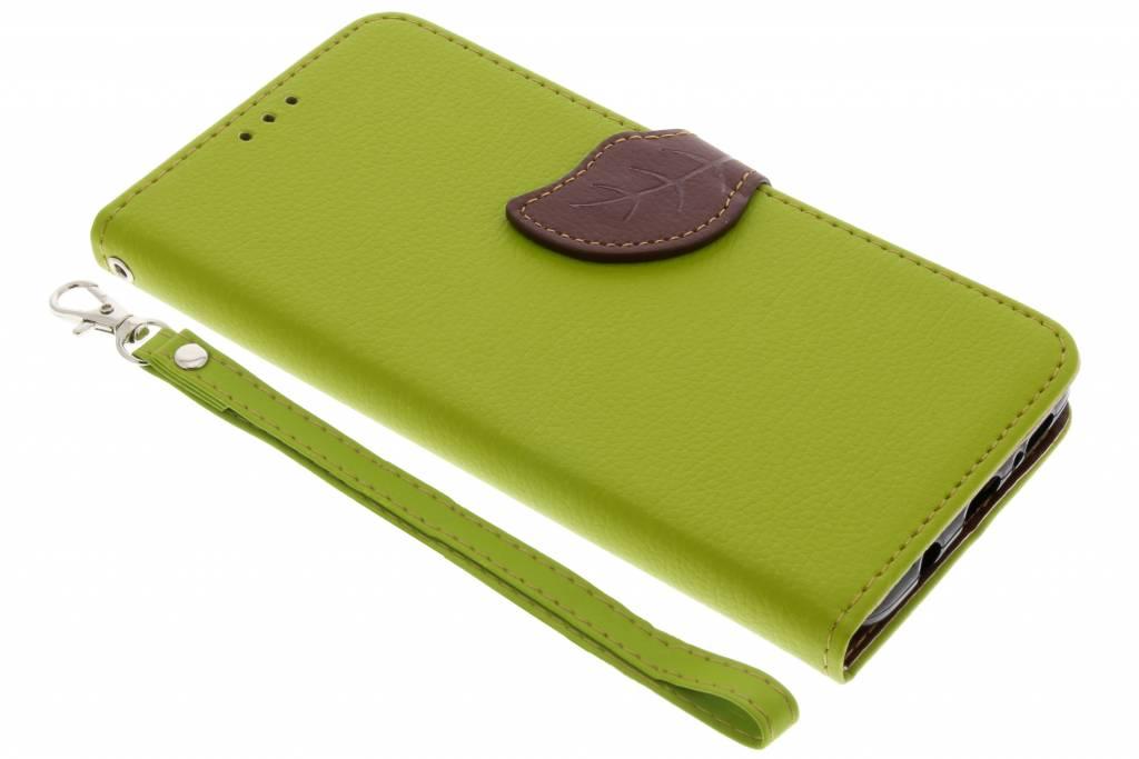 Groene blad design TPU booktype hoes voor de Samsung Galaxy S9 Plus