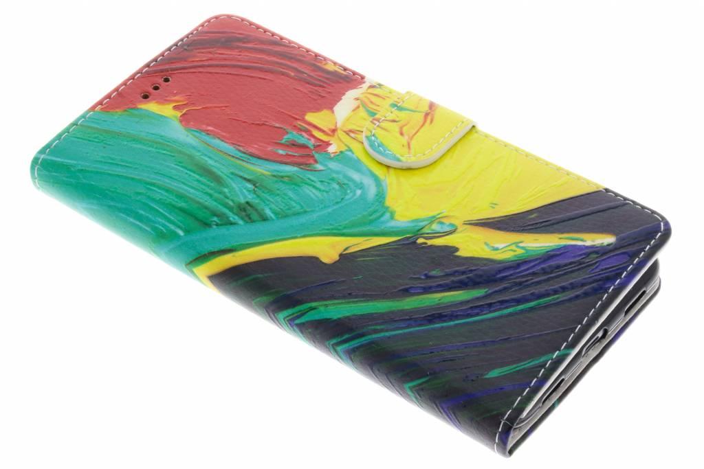 Kleuren design TPU booktype hoes voor de Huawei Y7 Prime