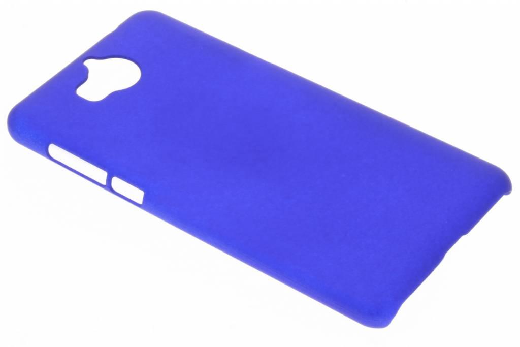 Blauw effen hardcase hoesje voor de Huawei Y6 (2017)