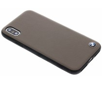 BMW Lichtbruin Genuine Leather Hard Case iPhone X