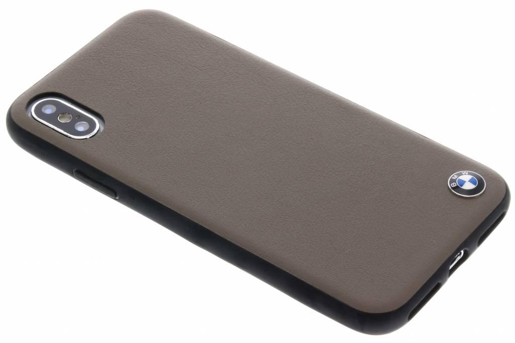 BMW Lichtbruine Genuine Leather Hard Case voor de iPhone X