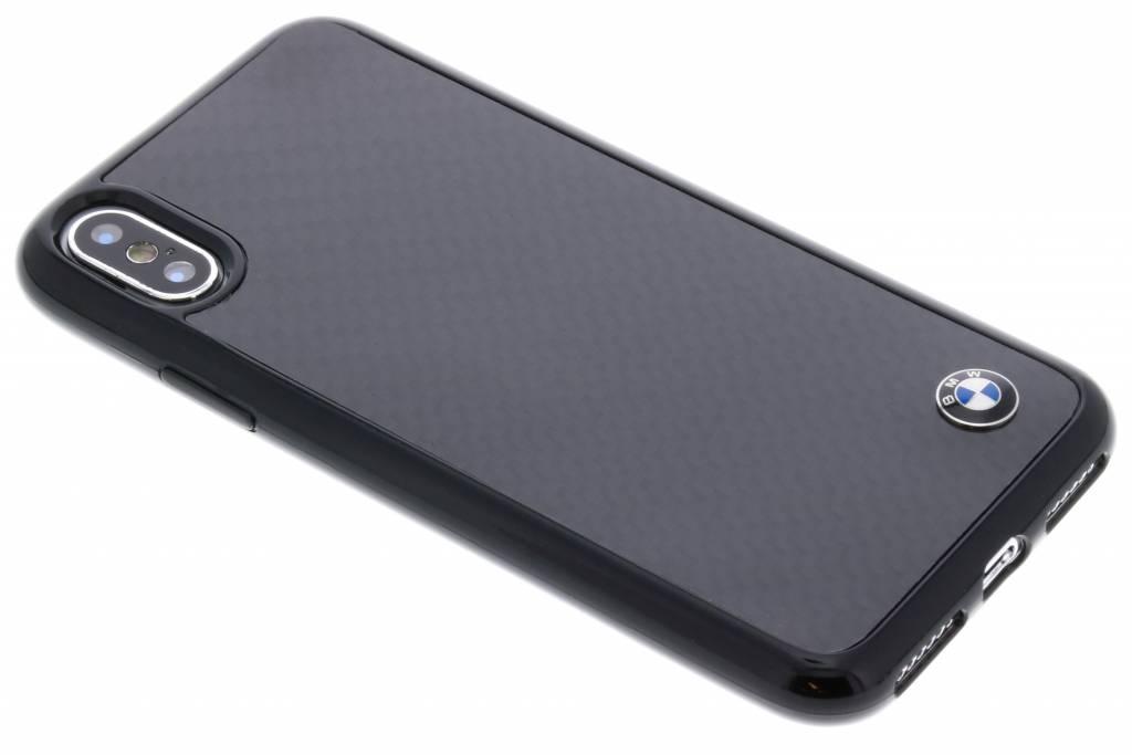 BMW Zwarte Real Carbon Fiber Hard Case voor de iPhone X