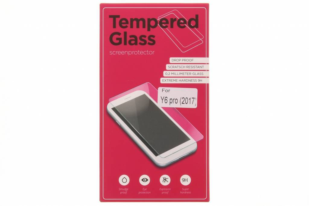 Gehard glas protector Huawei Y6 Pro (2017) / P9 Lite Mini