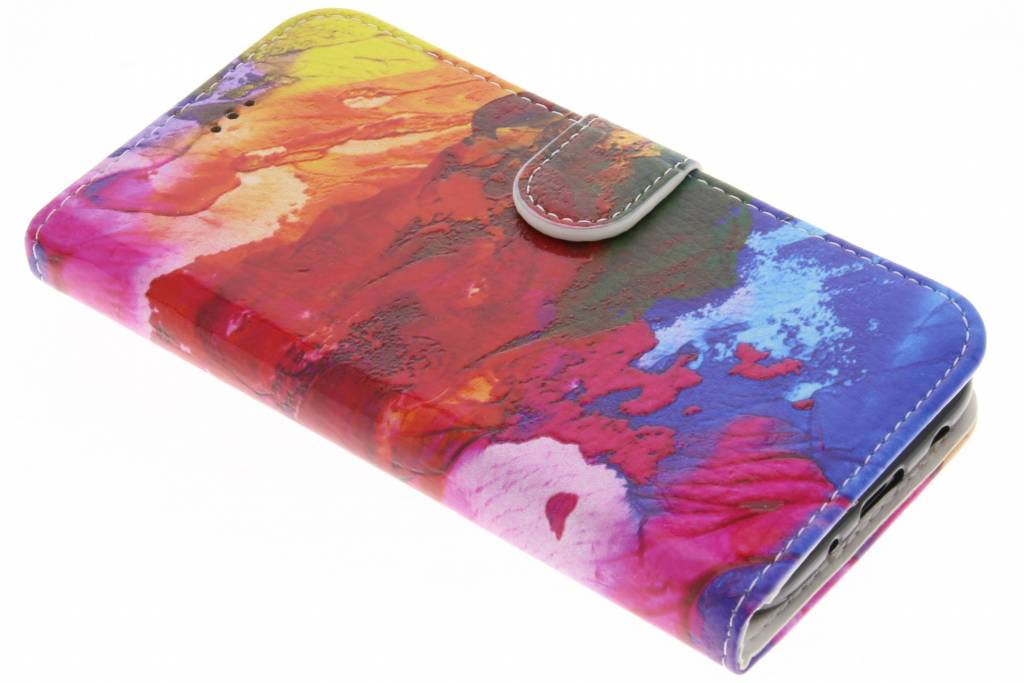 Colorful design TPU booktype hoes voor de Samsung Galaxy A8 (2018)
