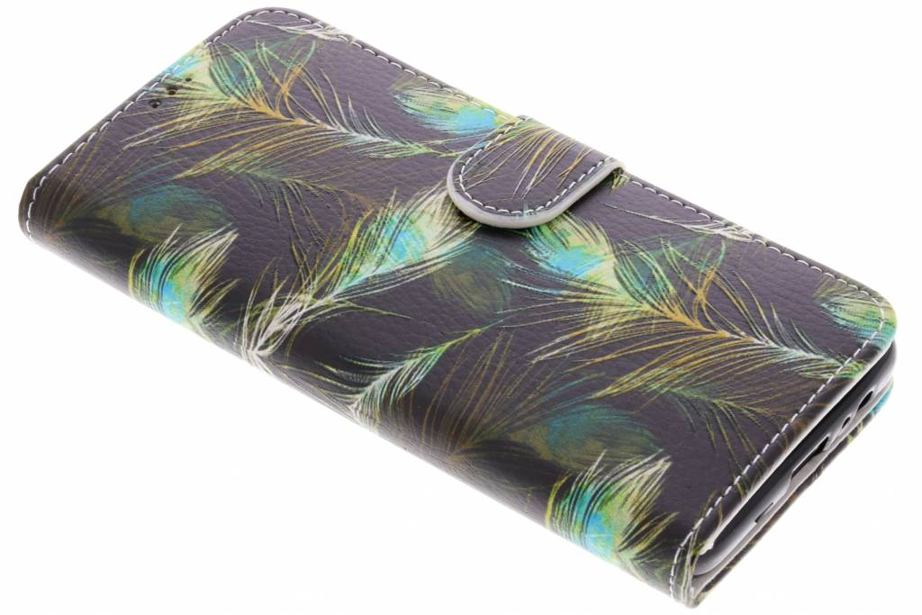 Feathers design TPU booktype hoes voor de Samsung Galaxy A8 (2018)