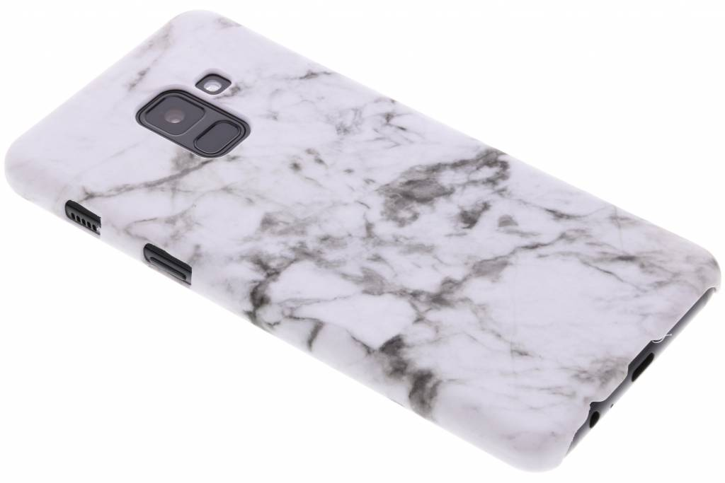 Wit marmer look hardcase hoesje voor de Samsung Galaxy A8 (2018)