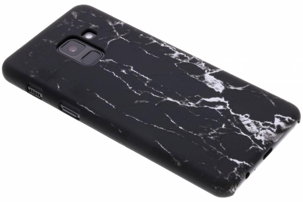 Zwart marmer look hardcase hoesje voor de Samsung Galaxy A8 (2018)