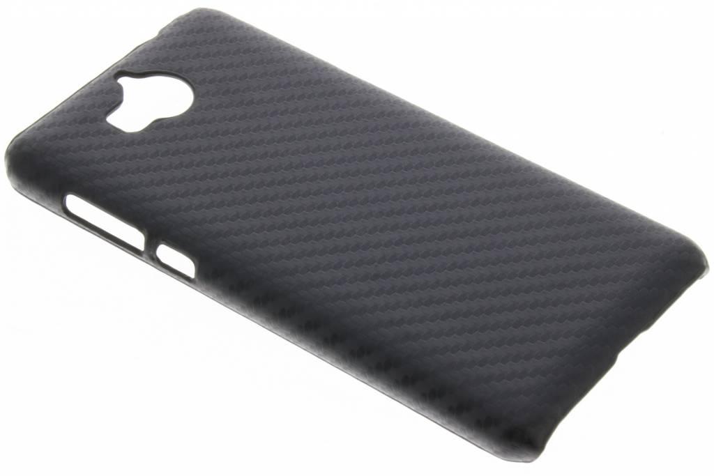 Zwart carbon look hardcase hoesje voor de Huawei Y6 (2017)