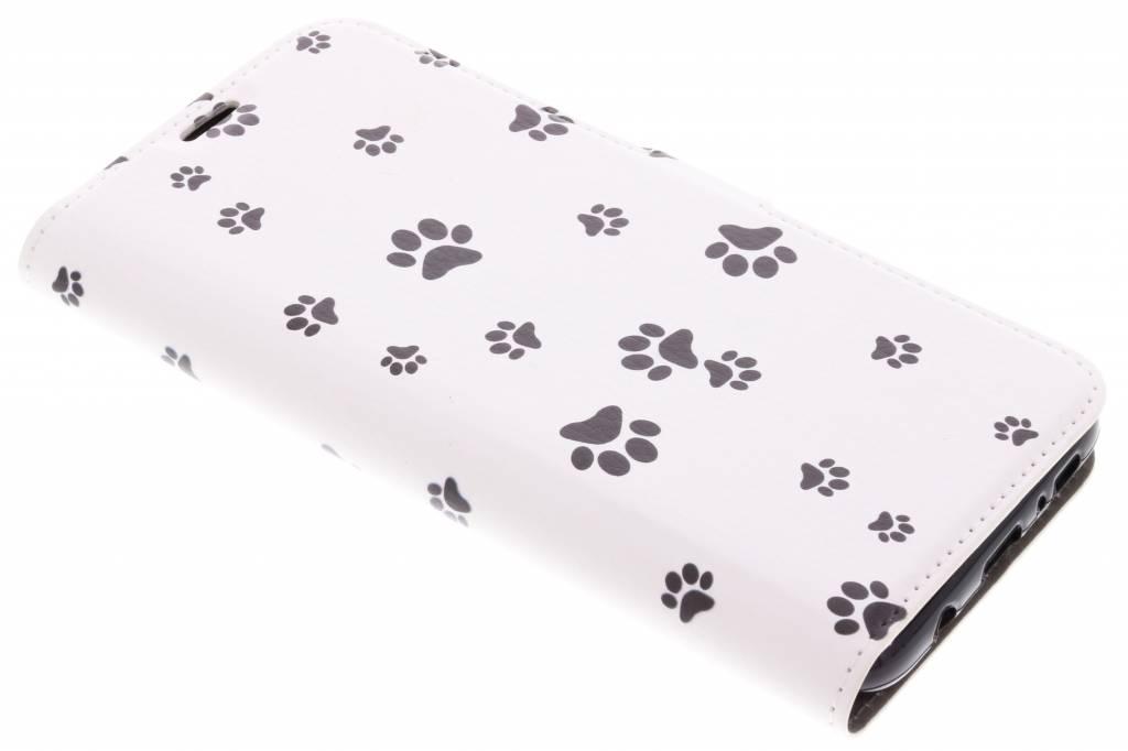 Dierenpootjes Design TPU Booklet voor de Samsung Galaxy S8 Plus