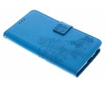 Klavertje bloemen booktype hoes Sony Xperia L2