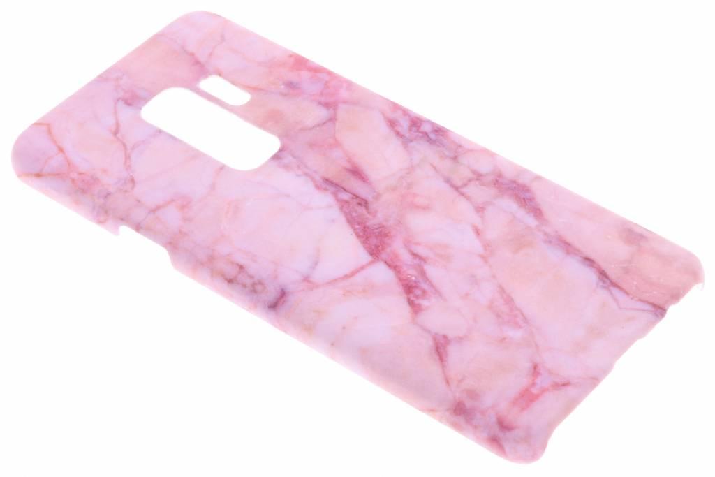 Roze marmer design hardcase hoesje voor de Samsung Galaxy S9 Plus