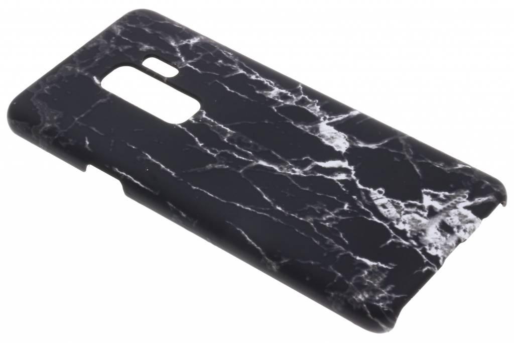 Zwart marmer look hardcase hoesje voor de Samsung Galaxy S9 Plus