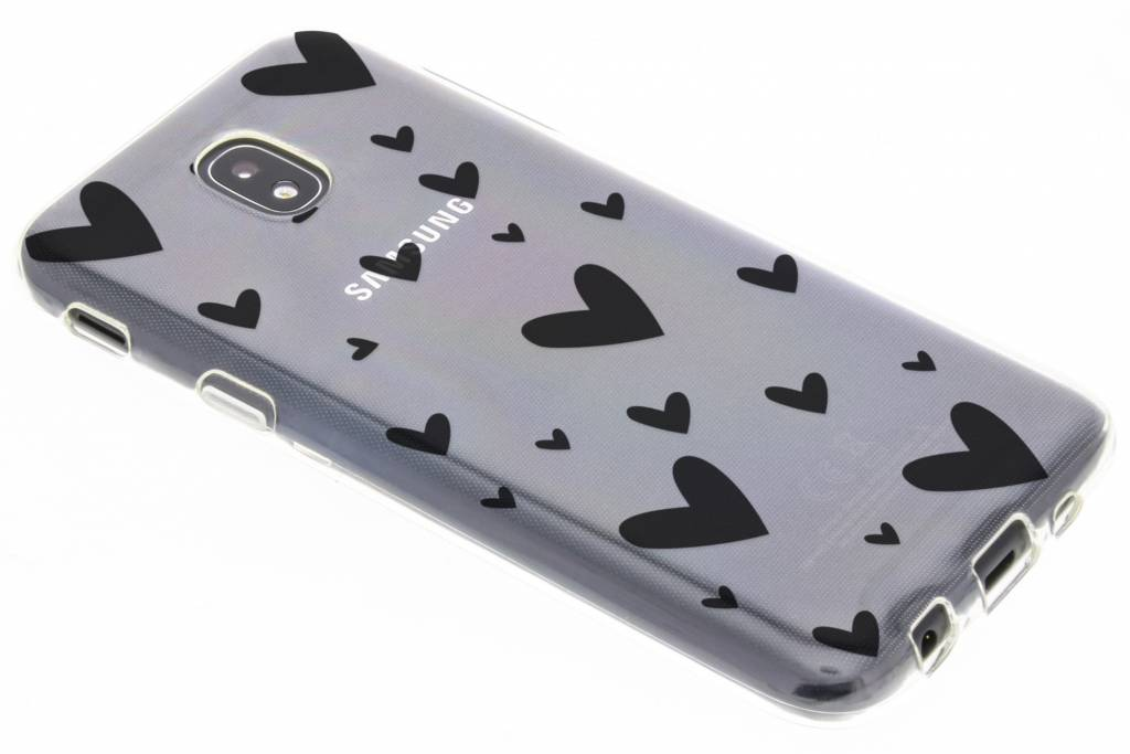 Hearts design siliconen hoesje voor de Samsung Galaxy J5 (2017)