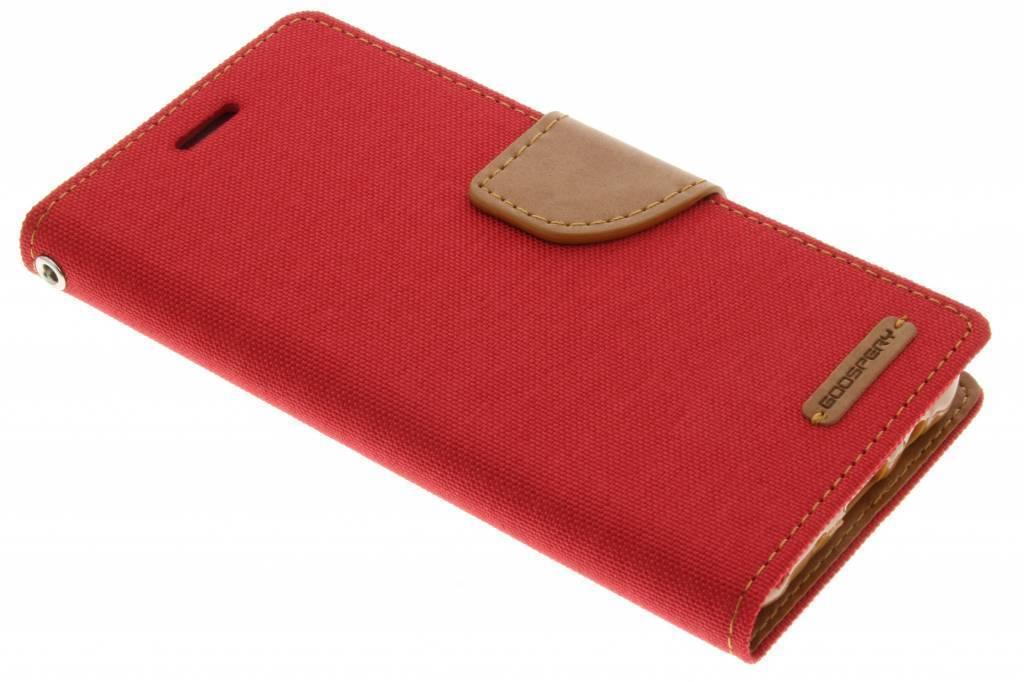 Canvas Diary Case voor de Samsung Galaxy J5 - Rood