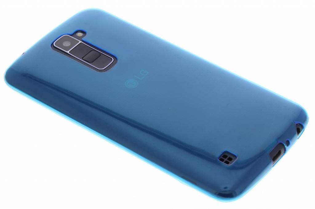 Blauw ultra thin transparant TPU hoesje voor de LG K10