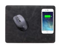 Zwart QI Wireless Charging Mouse Pad