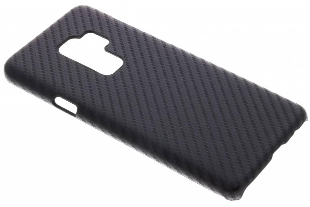 Zwart carbon look hardcase hoesje voor de Samsung Galaxy S9 Plus