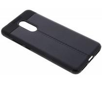 Zwart Lederen siliconen case Xiaomi Redmi 5