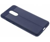 Donkerblauwe Litchi Grain Soft TPU Case Xiaomi Redmi 5