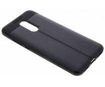 Zwart Lederen siliconen case Xiaomi Redmi 5 Plus