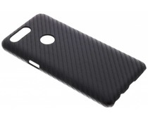 Zwart carbon look hardcase hoesje OnePlus 5T