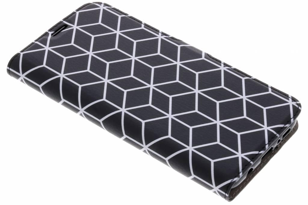 Cubes Black Design TPU Booklet voor de Samsung Galaxy S8 Plus