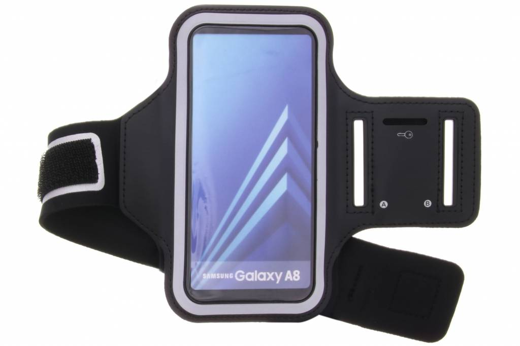 Zwarte sportarmband voor de Samsung Galaxy A8 (2018)