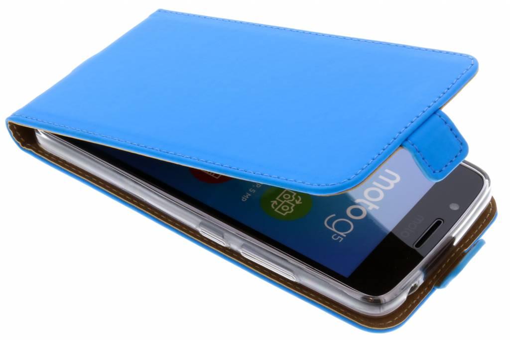 Blauwe Luxe TPU Flipcase voor de Motorola Moto G5