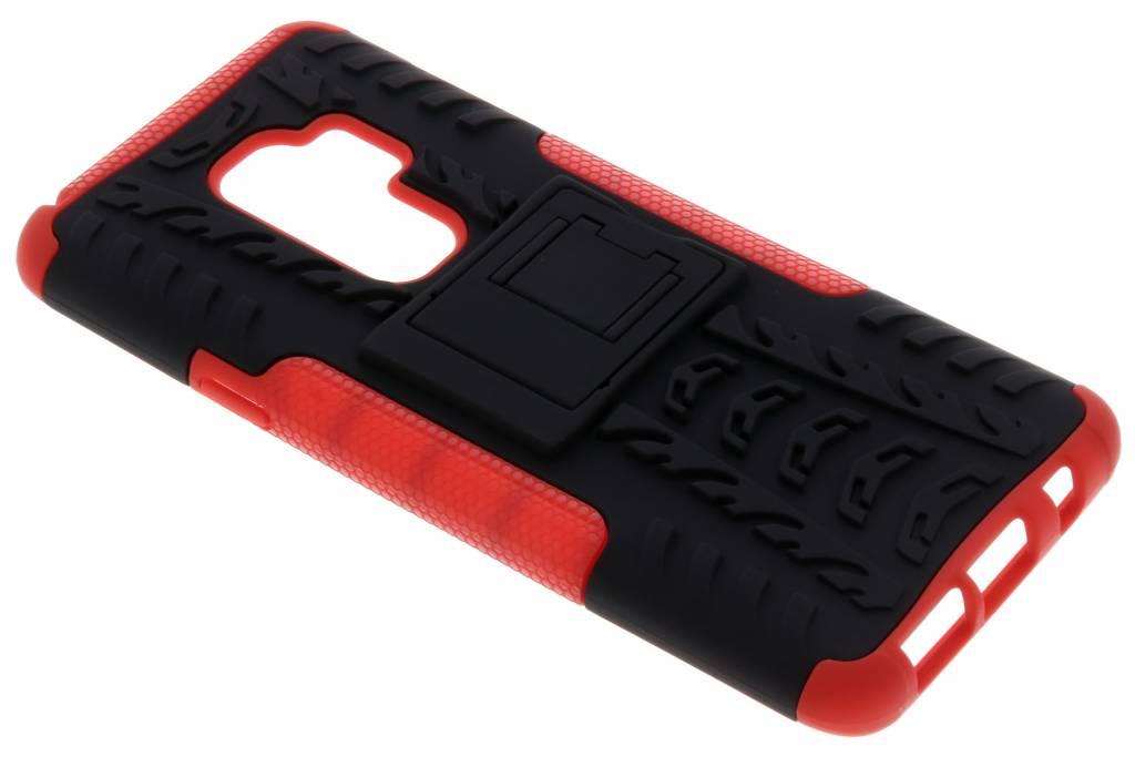 Rode Rugged Hybrid Case voor de Samsung Galaxy S9 Plus