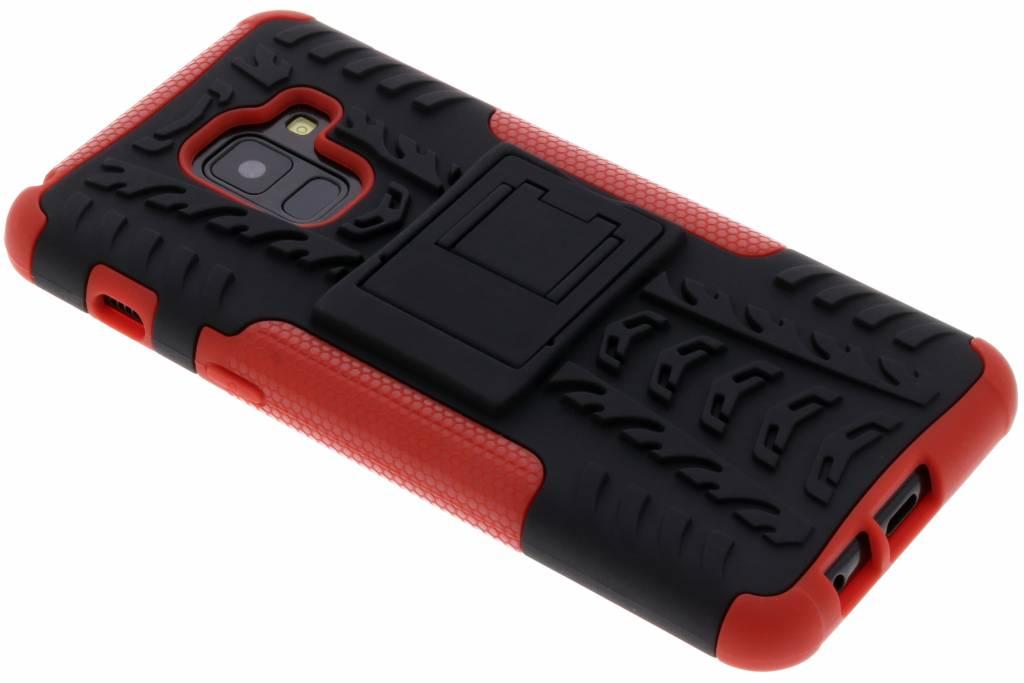 Rode Rugged Hybrid Case voor de Samsung Galaxy A8 (2018)