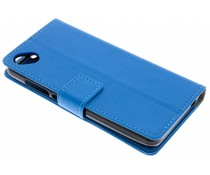 Blauw TPU Bookcase Wiko Sunny 2 Plus