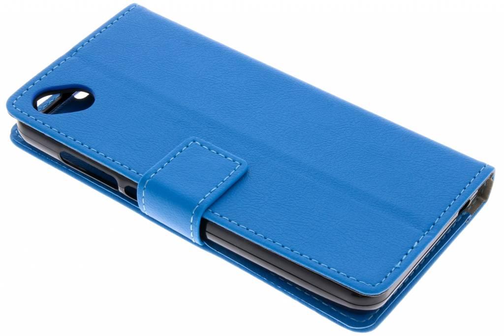 Blauwe TPU Bookcase voor de Wiko Sunny 2 Plus