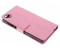 Roze TPU Bookcase Wiko Sunny 2 Plus
