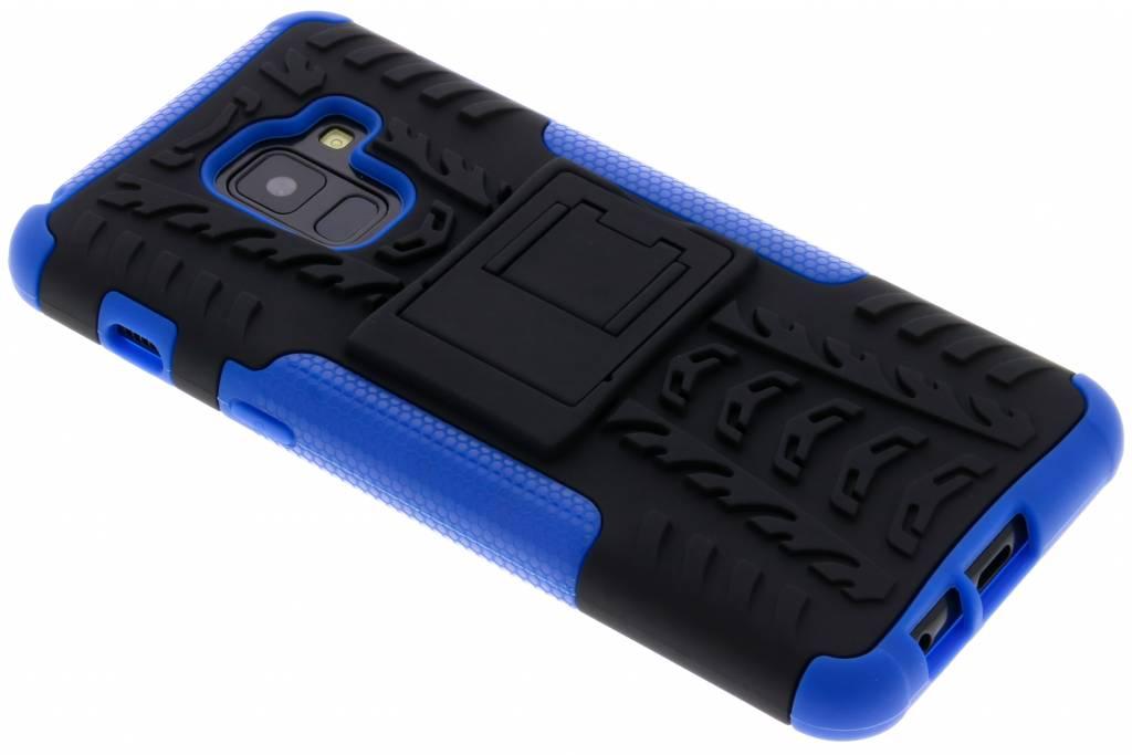 Blauwe Rugged Hybrid Case voor de Samsung Galaxy A8 (2018)