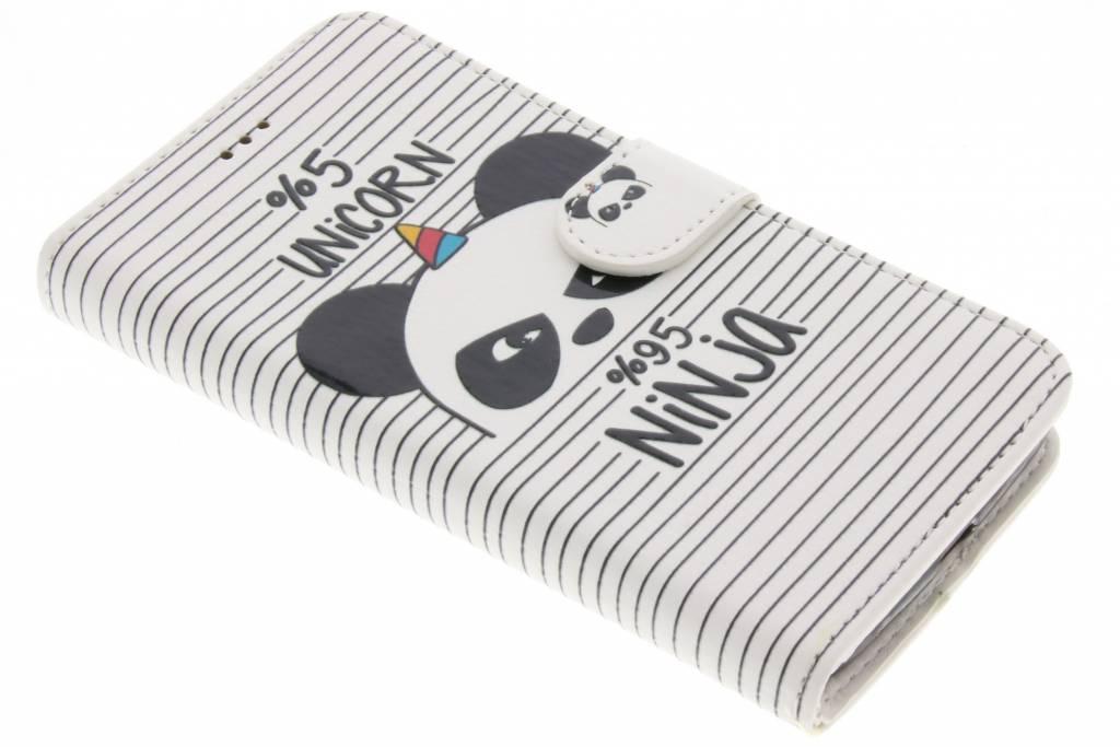 Unicorn ninja design TPU booktype hoes voor de Motorola Moto G5
