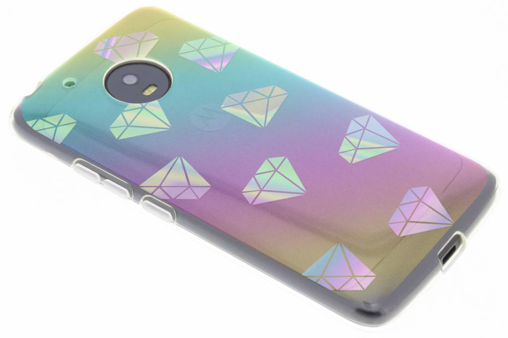 Holographic diamonds case voor de Motorola Moto G5