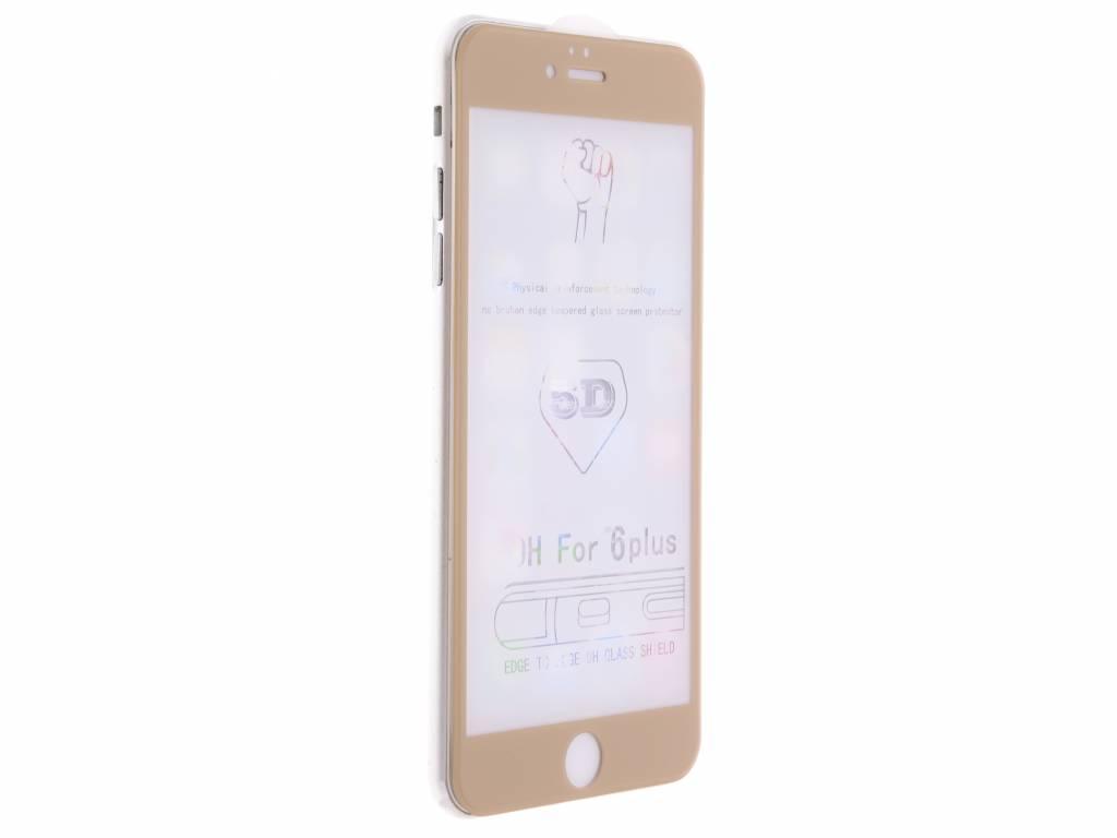 Gouden gehard glas full glue screenprotector voor de iPhone 6(s) Plus