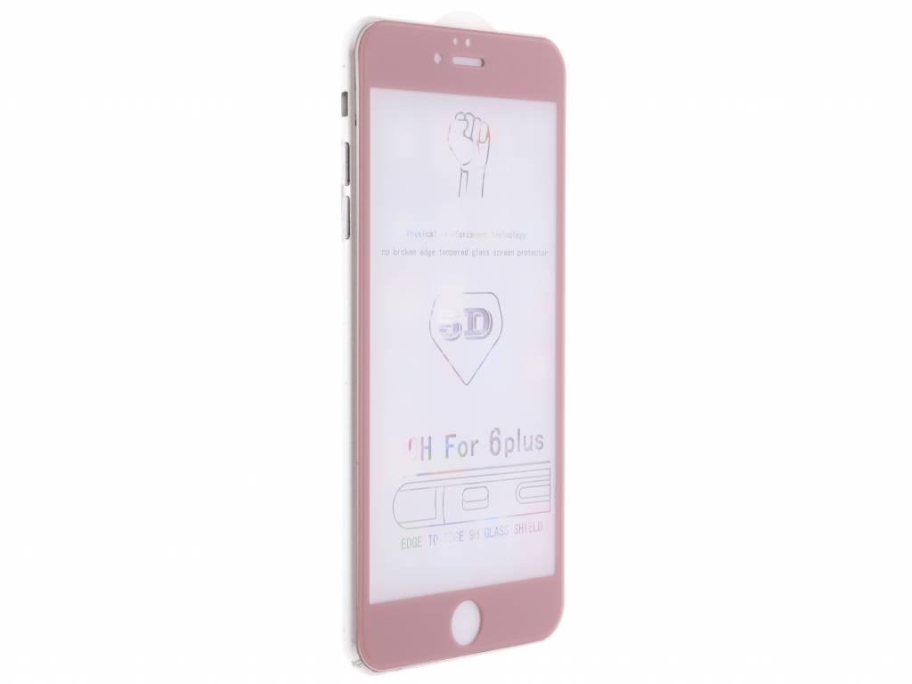 Rosé gouden gehard glas full glue screenprotector voor de iPhone 6(s) Plus