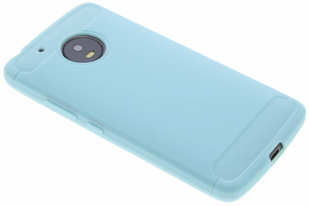 Turquoise Brossé Cas Tpu Pour Motorola Moto G5 dNXn6