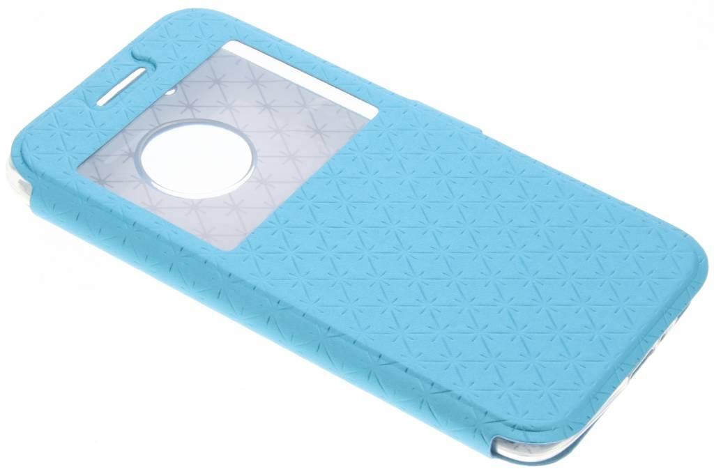 Blauw rhombus hoesje voor de Motorola Moto G5 Plus