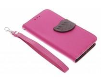 Blad design TPU booktype hoes Samsung Galaxy A3
