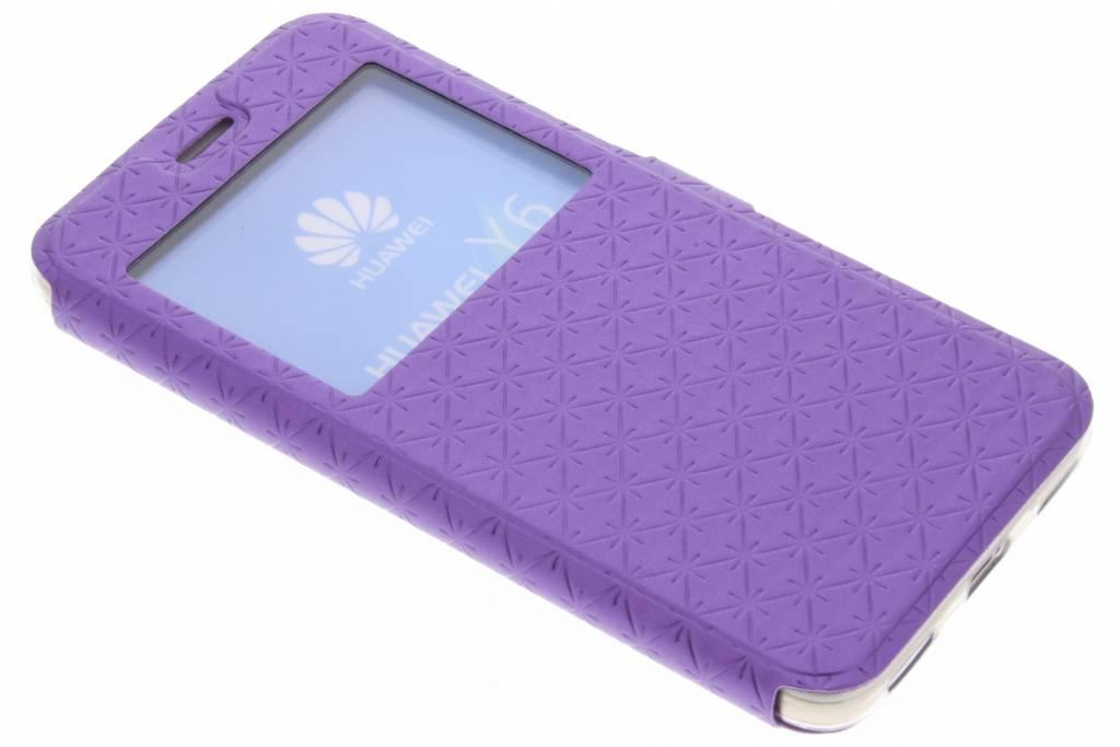 Cas Violet Pour Huawei Y6 Rhombus EchMoXFb