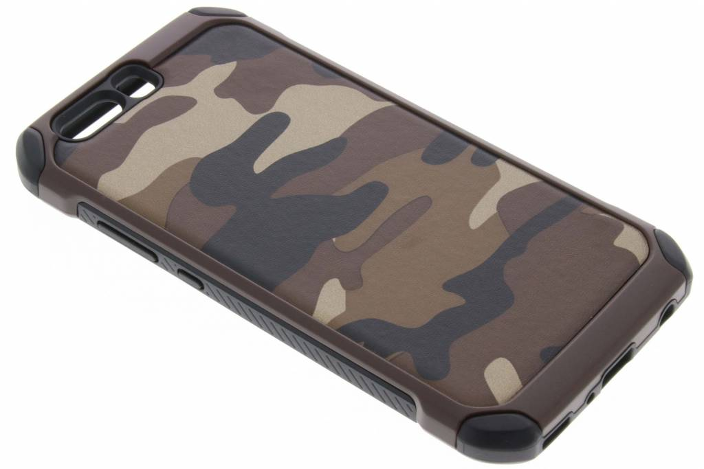 Bruine army defender hardcase hoesje voor de Huawei P10 Plus