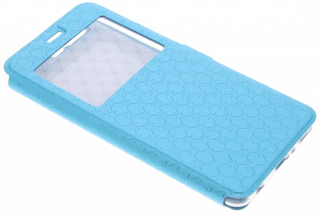 Blauw Rhombus hoesje voor de Huawei P10 Plus