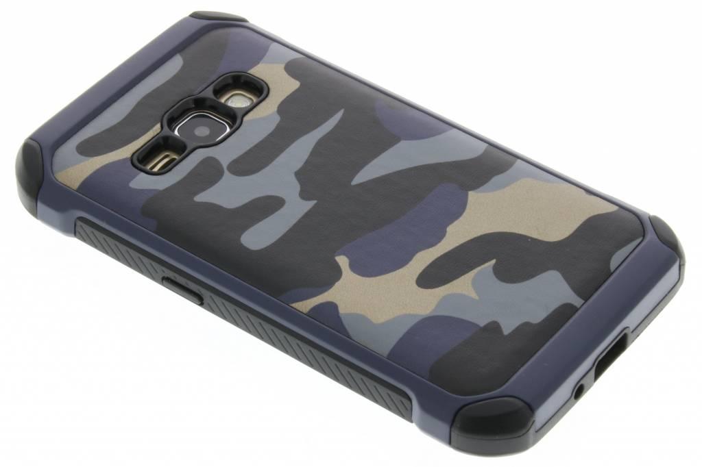 Blauw army defender hardcase hoesje voor de Samsung Galaxy J1 (2016)