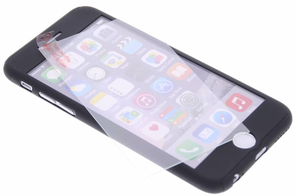 Zwarte 360° effen protect case voor de iPhone 6(s) Plus